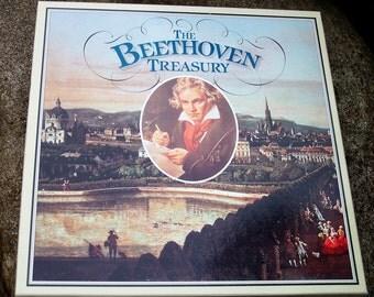 Vintage Vinyl Records, The Beethoven Treasury, 1981 Boxed Set 10 Vinyl LPs, Classical Orchestra Music, Vinyl,  Liebowitz, Royal Philharmonic