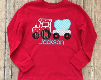 Train with Heart Applique Shirt