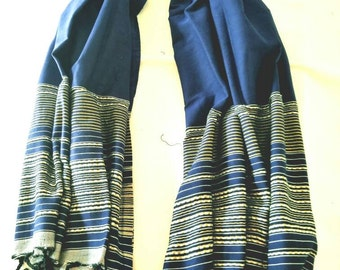 Hand Woven 100% Natural Cotton Scarf,Shawl,Wrap,Tablecloth ,Spa Towel