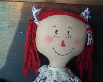 Primitive Raggedy Ann Doll