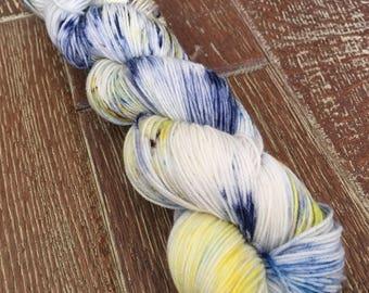 Hand Dyed TO ORDER Superwash Merino Nylon Sock Yarn, 100g/3.5oz, 'I Love New York'