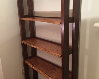 SOLD - Live Edge Custom Bookcase