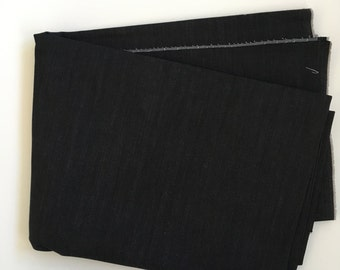 Black Stretch Denim- 2 yards