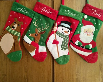 Personalized christmas stocking holidays Decoration snowman monogram christmas stockings christmas ornaments/4 styles