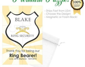 Ring Bearer Gift- Ring Bearer Thank You- Thank You for being our Ring Bearer- Personalized Ring Bearer Gift Ring Bearer Puzzle Ring Security