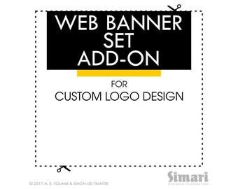 Custom Logo Design Web Banner Set Add-on