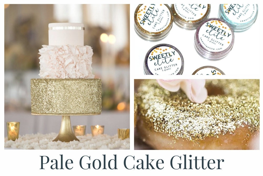 Edible Art Cake Glitter : Wedding Cake Glitter Edible Gold Dust Gold Edible Glitter