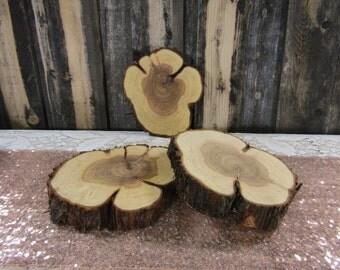 "3 Gorgeous Juniper Slices ~ 8"" x 9"" Wood Slab ~ Rustic Wedding Decoration ~ Christmas Decor ~ Summer Wedding (WS6030)"