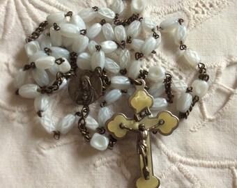 Vintage 1930s German Czech Glass Rosary