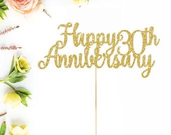 Anniversary Cake Topper  l  Happy Anniversary Cake Topper  l  Party Cake Topper  l   Wedding Anniversary Cake Topper