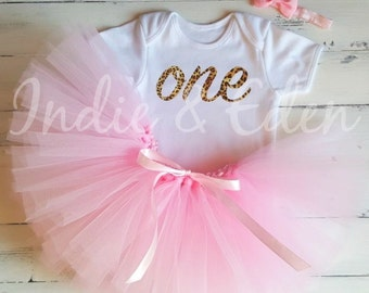 1st Birthday tutu one baby leopard print pink personalised white silver set photo prop cake smash