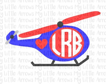 Love helicopter monogram SVG, DXF, EPS, png Files for Cutting Machines Cameo Cricut - boy ...