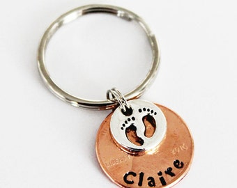 BABY GIFT. Baby Shower Gift. Lucky Penny. Baby Feet. Personalized Penny. Personalized Gift. Gift for the Mom.  Mother's Gift.
