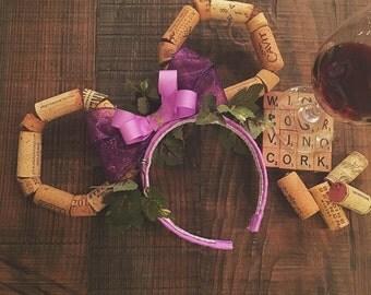 Wine cork ears, cork ears, wine ears, food and wine festival, epcot, bachelorette, cork, wine, grapes, vineyard
