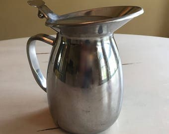 Vintage Hinged Lid Polar Stainless Steel Pitcher