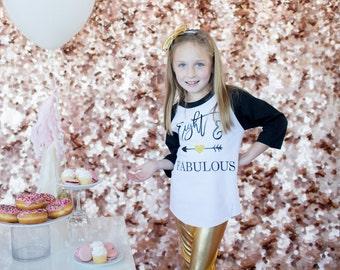 Eight and Fabulous Baseball Tee, 8 and fabulous shirt, Eighth birthday shirt, Turning 8 shirt, 8 years old, Eight years old, Eighth Birthday