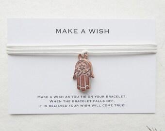 Wish bracelet, make a wish bracelet, hamsa bracelet, W30