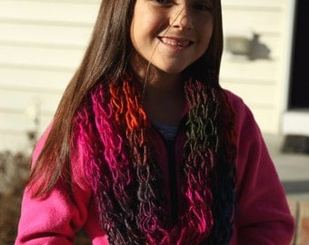 SALE Colorful cowl infinity scarf