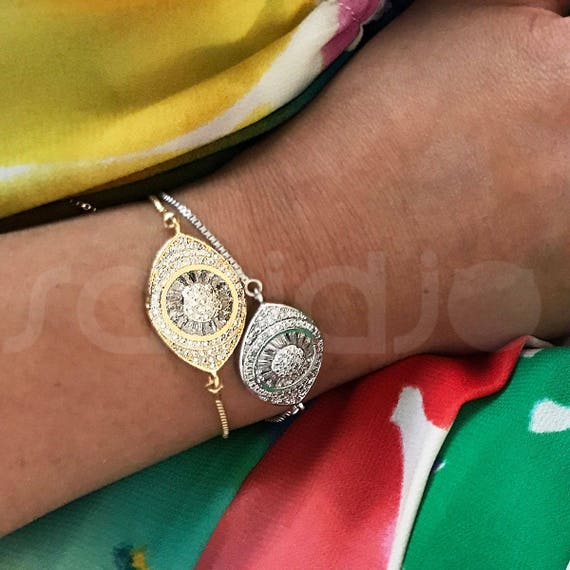 Evil Eye Gold Bracelet, Hamsa Bracelet, Evil Eye Jewelry, Interesting Gift, Unusual Gifts, Talisman Pendants, Bridesmaid Gifts, Dainty Charm
