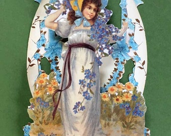 Easter Girl Victorian Pop Out Card