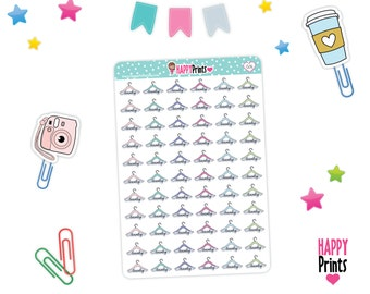 H 026) -- Laundry Planner Stickers, Clothes hook Stickers.