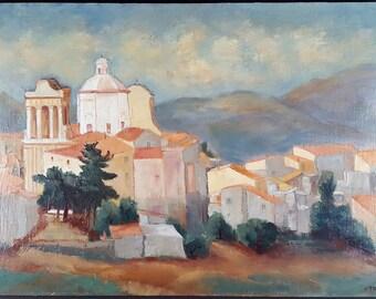 Jacqueline Triby (French) Antique Oil Painting Old Vintage Original Ancien Tableau Peinture Huile