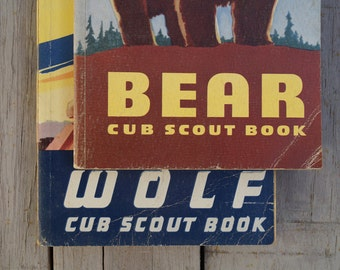 Wolf and Bear Cub Scout Books with Catalog - 1960's