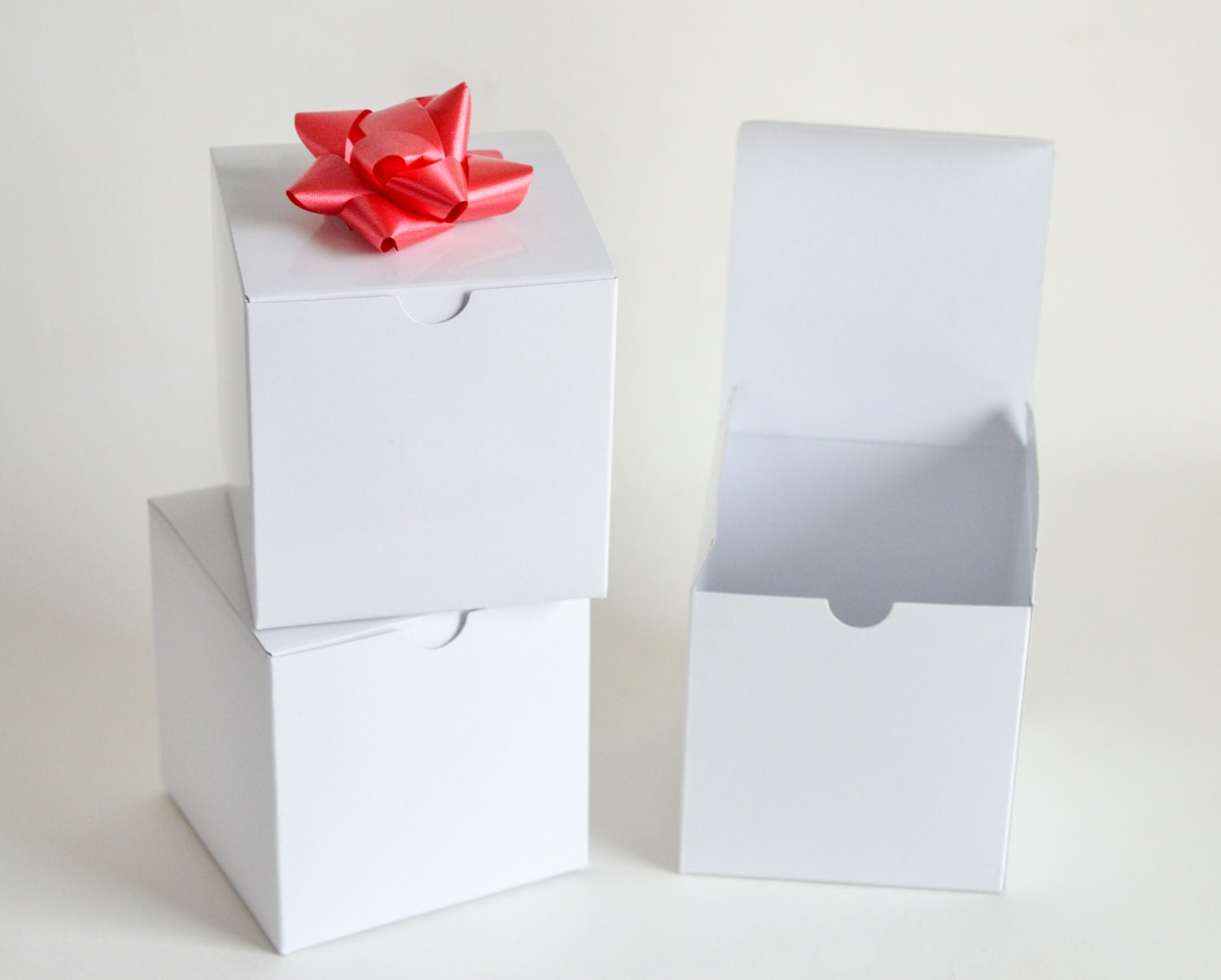 Wedding Favor Boxes White : White gift boxes favor wedding