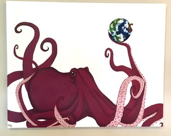 Abstract Octopus Print