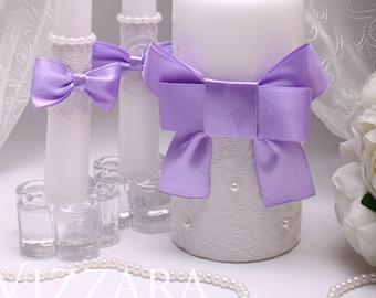 Wedding Set Lilac Decor Purple Ideas Unity Ceremony Candles Candle