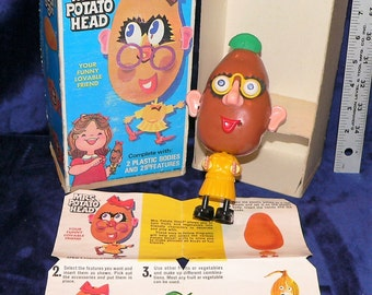 Vintage Mrs. Potato Head with Box and Instructions