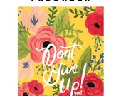 Preorder - English Don't Give Up 2017 Convention of Jehovah's Witnesses Wire-Bound Notebook Gold,  JW Gift, JW Convention Gift, JW Notebook
