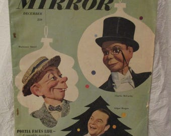 Radio and Television Mirror Magazine December 1948 Featuring Edgar Bergen Mortimer Snerd and Charlie McCarthy