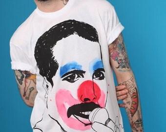 ADAMADAMADAM Freddie Mercury Clown print T-shirt