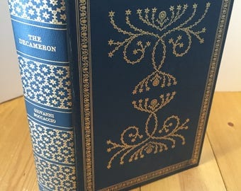 The Decameron by Giovanni Boccaccio Vintage Hardcover Book by International Collector's Library