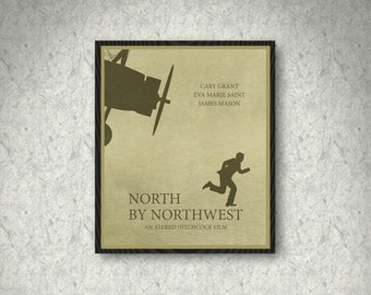 North by Northwest Movie Poster Print, Home Decor, Print Art Poster