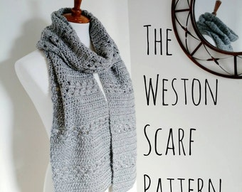 The Weston Scarf Pattern // Crochet Scarf Pattern