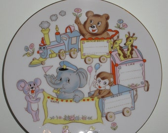 Baby Birth Announcement Plate