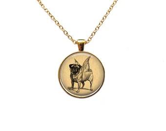 Vintage jewelry Dog necklace Animal pendant