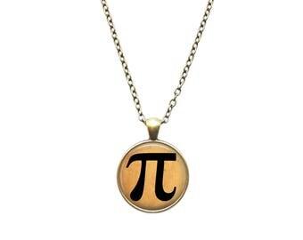 Pi pendant Antique jewelry Symbol necklace