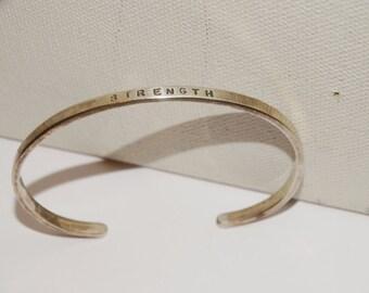 Vintage Sterling Silver Lovely Simple Elegant Cuff Bracelet.