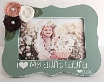 gift for aunt picture frame for aunt aunt gift aunt present aunt picture frame