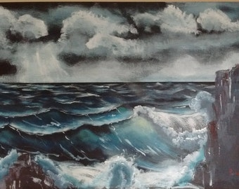 Bob Ross Inspired Seascape
