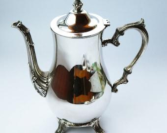 Vintage Silver Plated Art Deco Coffee Pot  Tea Pot  60's