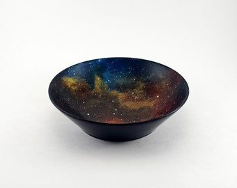 Upcycled Wood Bowl With Galaxy