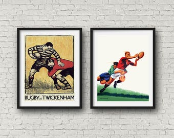 Rugby Posters Rugby Prints Vintage Rugby Art Decor Rugby Gift Rugby Wall Art