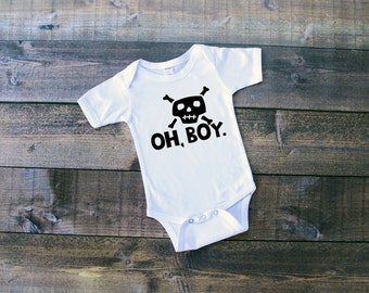 Oh Boy Onesie or Toddler Shirt