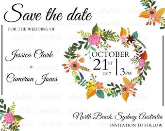 FLORAL DESIGN - Save the Date