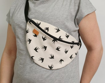 Waist bag Fanny pack Summer bag Womens gift Birds Cotton bag Girlfriend gift