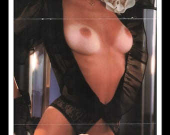 "Mature Playboy November 1983 : Playmate Centerfold Verónica Gamba 3 Page Spread Photo Wall Art Decor 11"" x 23"""